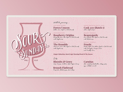Flyer for Sour Sundays