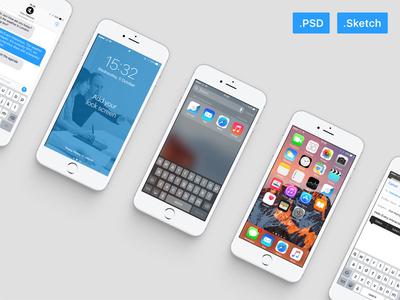 iOS 10 GUI PSD/Sketch
