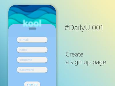 UX 001 - Sign-Up Page illustration graphic design design minimal app ui ux