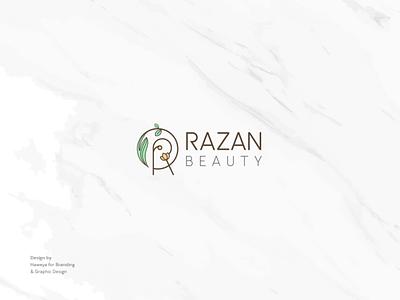 Razan Beauty Center branding inspiration identity illustrator razan creative beauty logo beauty simple brand logo design logo