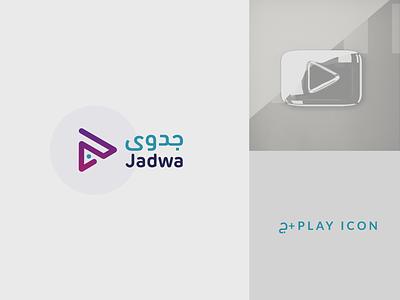 Jadwa Logo illustration branding agency j logo play multimedia creative inspiration identity simple branding brand logo design logo