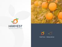 Harvest Logo inspirations delivery app brand identity vegetable logodesign creative simple identity vector illustration logo design deliver orange logo modern logo inspiration marketing fruit logo fresh delivery service