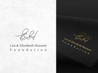 Leo and Elizabeth Hannet foundation logo design.