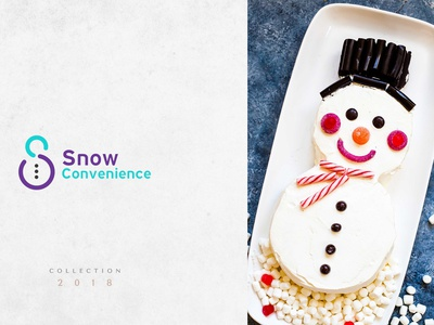 Snow Convenience Logo design brand designer convenience logo cooking logo logo design branding brand identity logo logo design logo designer design