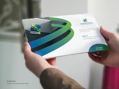 UCASTI profile design brochure mockup brochure design brochure branding design branding profile design printed material