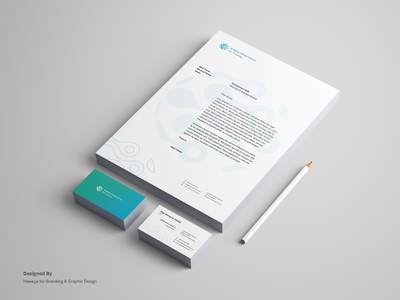 Stationary design for Kinda Brand letter head business card logo stationary design