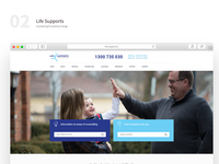 Life Supports counselling website design