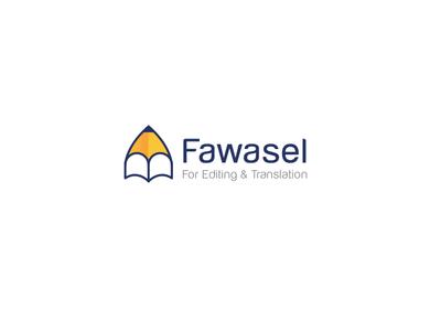 Fawasel logo simple illustrator creative company branding designer poetry education pen book logo design
