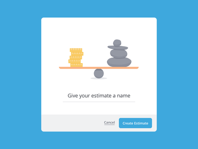 New Estimate Modal