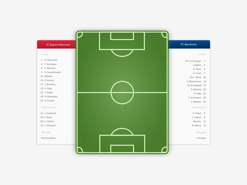 Football Lineup By Luis Kentzler Dribbble
