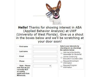 Request Screengrab form design university education forms online form