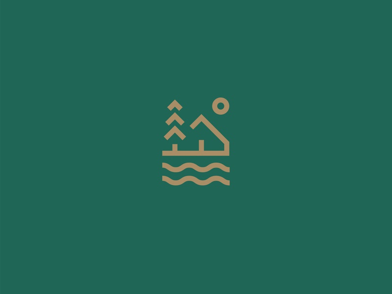 Cottage village — Logo design nature water forest home house village branding design identity design simbol type mark logomark logotype logo design logodesign logolove logo