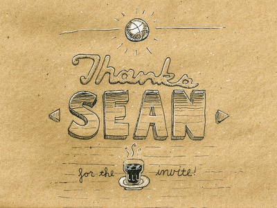 Thanks Sean! seanherman debut espresso dribbble invite handdrawn pen ink