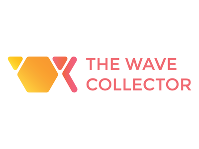 The Wave Collector Logo Revision the wave collector electronic music portland or logo vector