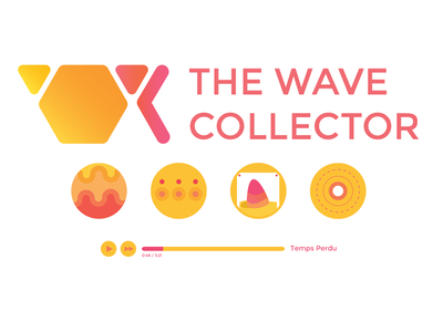 Wave Collector Icons and Web Player the wave collector electronic music portland or logo vector