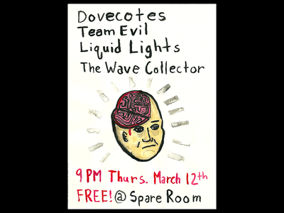 Spare Room show poster poster ink illustration the wave collector