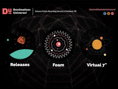 Destination: Universe! Website Landing Page destination universe recording studio pdx portland or victor nash sci-fi