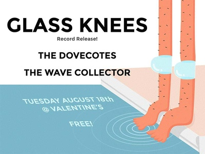 Glass Knees record release show poster