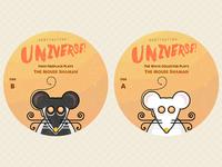 "Mouse Shaman 7"" vinyl stickers"