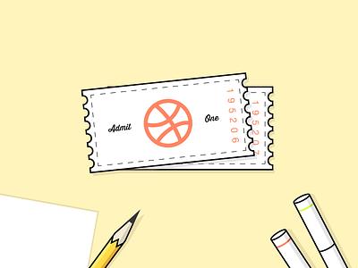 Dribbble Invite Giveaway #2 illustration vector illustrator giveaway invite dribbble