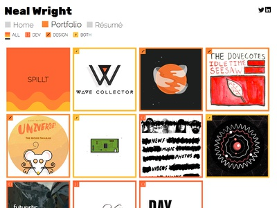 Portfolio Website Redesign graphic design web design website neal wright animation illustrator illustration css html portfolio