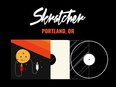 Skratcher PDX May Poster poster illustration scratching vinyl vector turntablism pdx skratcher illustrator