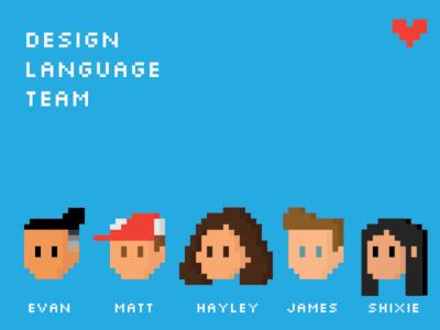 pixel team friends avatar character game 8bit pixel