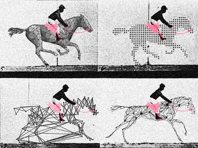 Motion Breakdown technology metaphor poster machine learning ai motion horse muybridge