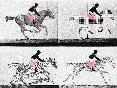 Motion Breakdown technology metaphor poster machine learning ai motion horse muybridge
