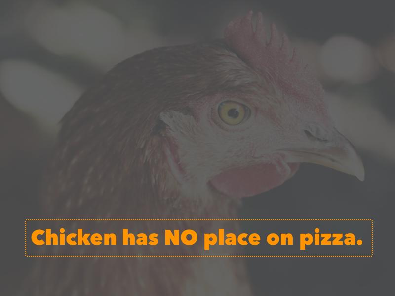 Chicken No On Pizza 1x best designs chicken pizza
