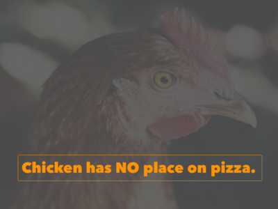 Chicken No On Pizza 1x best designs chicken pizza