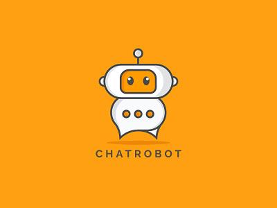 Chat robot logo design modern creative logo best logo best short graphic design illustration simple branding minimal minimalist logo logo design robot logo chat logo modern logo logo