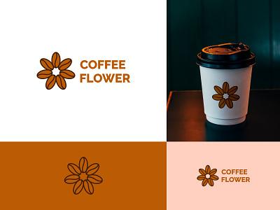 Coffee + Flower Logo design illustration vector branding simple logo design minimal minimalist logo modern logo minimalist modern logo design coffee flower logo flower logo coffee loog