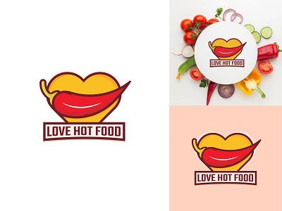 Love hot food best short vector branding illustration simple design minimal logo minimalist logo modern logo shop logo love food logo food logo restaurant logo