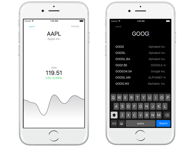 ios stock tracker app design by aleksander skjølsvik dribbble