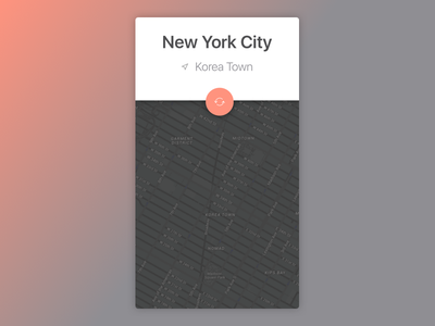 Map iOS app day29 dailyui new york city location illustration sketch apple ios map
