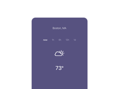 Weather app for iOS minimalist illustration mockup sketch day37 dailyui weather