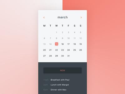 Calendar iOS App day38 dailyui mockup illustration sketch apple ios calendar