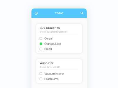 To Do List iOS App day42 dailyui mockup ios sketch list to do todo