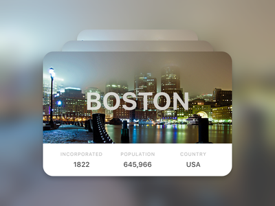 Info Card for Cities day45 dailyui illustration sketch cards info card info card cities boston