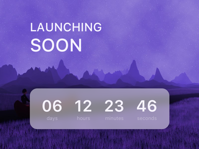 Coming Soon Screen illustration sketch day48 dailyui timer countdown launching soon coming soon