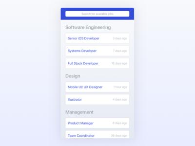 Job Listings iOS App