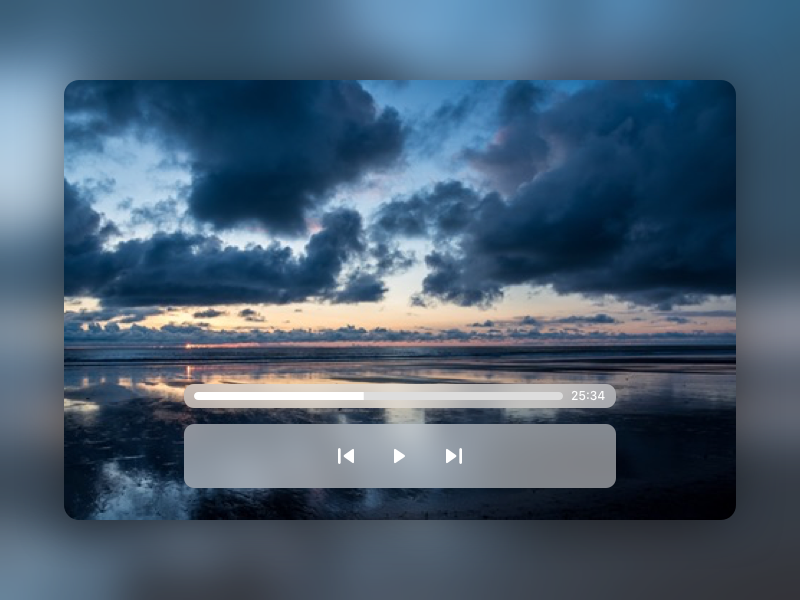 Video Player sketch day57 dailyui playback player video video player