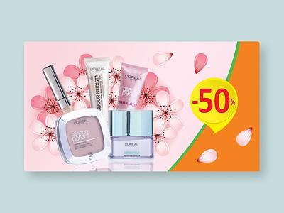 Banner design for online store online shop creative vector illustration banner design design