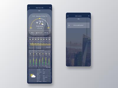 Weather APP UI/UX Design weather app ios smartphone application mobile creative ui interface digital design