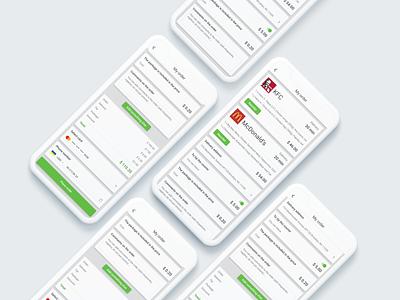 Food Delivery App UI/UX Design smartphone delivery app food ios application mobile creative ui interface digital design
