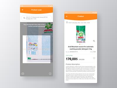 Barcode Scanner APP app smartphone ios application mobile creative ui interface digital design