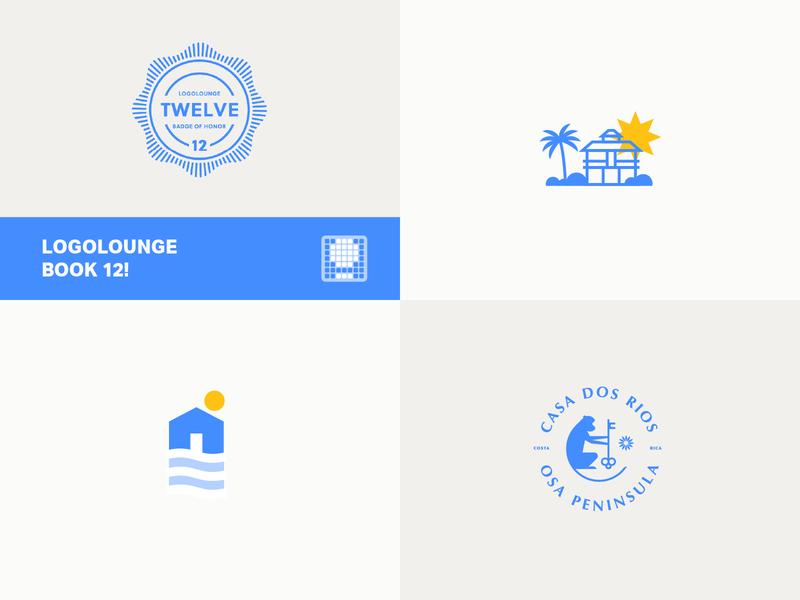 LogoLounge: Book Twelve beach badge key palm waves logolounge monkey rica costa tropical sun cabin house