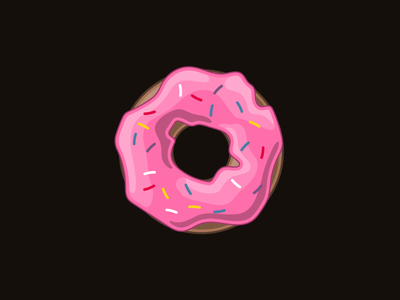 Donut on a Tuesday pink dessert breakfast cake icing sprinkles donut