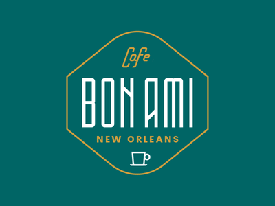 Coffee Branding pt I type new orleans mug louisiana gold emerald coffee cafe bon beans bag ami